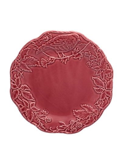 Picture of Artichoke and Bird - Fruit Plate 22 Dark Pink