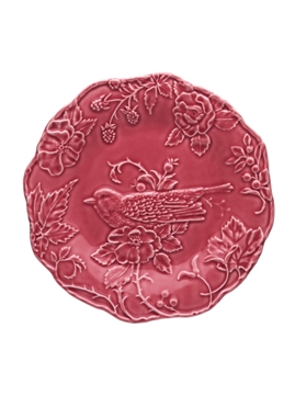 Picture of Artichoke and Bird - Plate 25,5 Robin Dark Pink