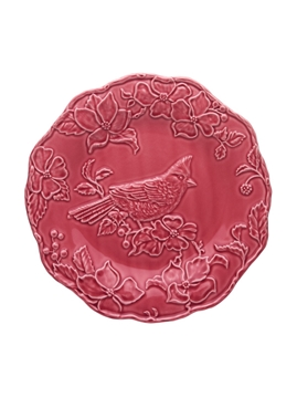 Picture of Artichoke and Bird - Plate 25,5 Cardinal Dark Pink