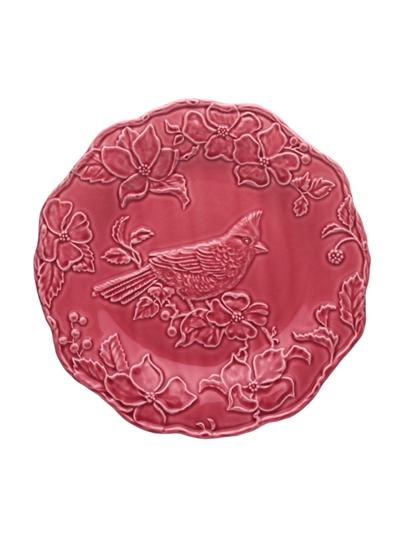 Picture of Artichoke and Bird - Plate 25,5 Cardinal Dark Pink