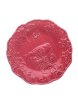 Picture of Artichoke and Bird - Plate 25,5 GoldFish Dark Pink