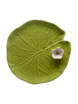 Picture of Water Lilly - Leaf with Flower 15,5 Green/White