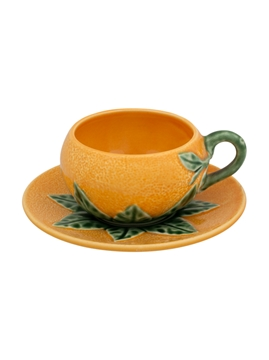 Picture of Orange - Coffee Cup and Saucer