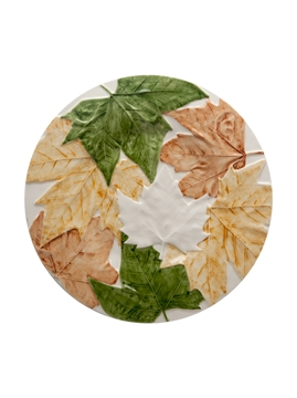 Picture of Plane Tree leaves  - Dinner Plate 27,5 Natural