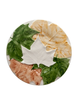 Picture of Plane Tree leaves  - Fruit Plate 20,5 Natural