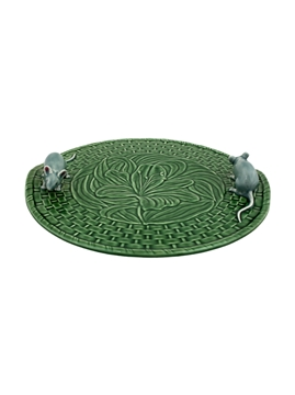 Picture of Cheese Trays - Green Lily Cheese Tray with Natural Mouse