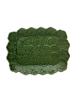 Picture of Geranium - Relief Platter 39 Green