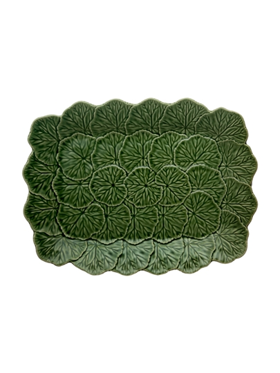 Picture of Geranium - Relief Platter 39 Green