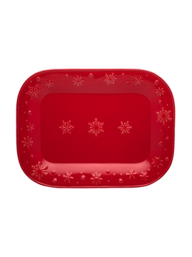 Picture of Snowflakes - Platter 41 Red