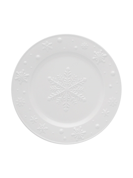 Picture of Snowflakes - Fruit Plate 22 Beige