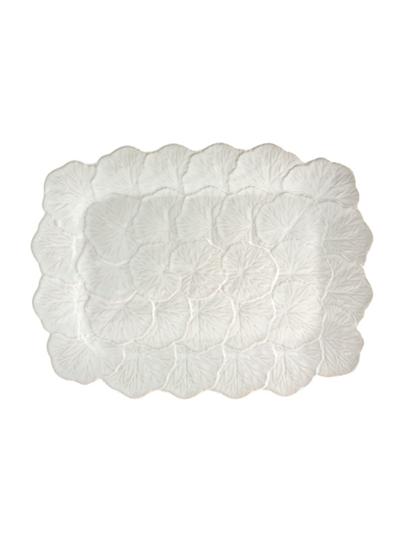 Picture of Geranium - Relief Platter 39 White