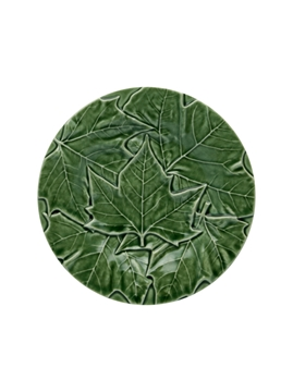 Picture of Plane Tree leaves  - Bread Plate 17 Green