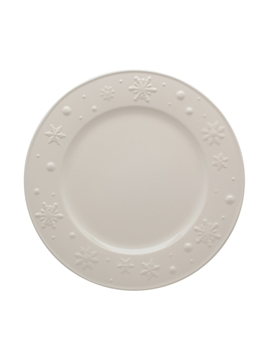 Picture of Snowflakes - Dinner Plate 28 Beige