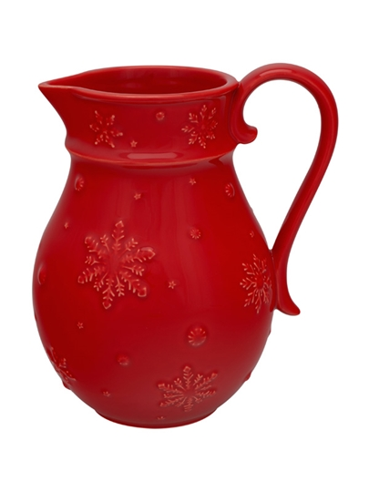 Picture of Snowflakes - Pitcher Red