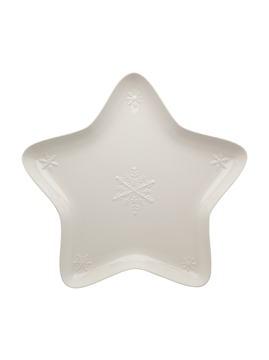 Picture of Snowflakes - Star Bowl 45 Beige