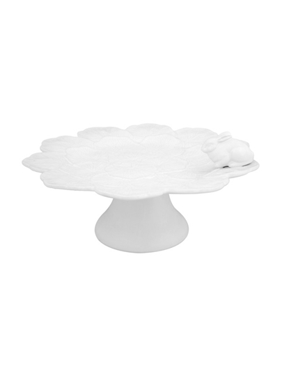 Picture of Geranium - Cake Stand with Rabbit 33 White