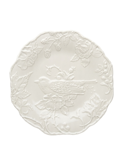 Picture of Artichoke and Bird - Plate with Robin 25,5 Sandy Grey