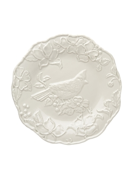 Picture of Artichoke and Bird - Plate with Cardinal 25,5 Sandy Grey
