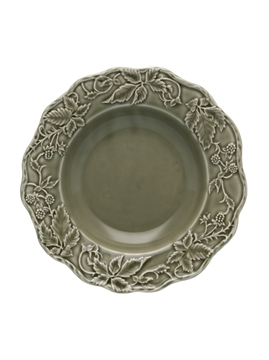 Picture of Artichoke and Bird - Soup Plate 24 Dark Grey