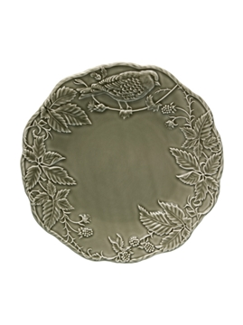 Picture of Artichoke and Bird - Charger Plate 32 Dark Grey