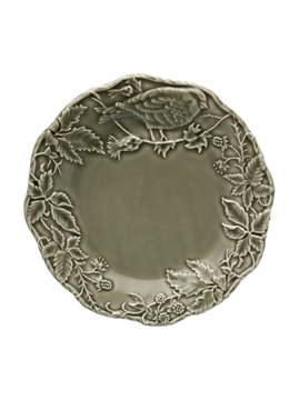 Picture of Artichoke and Bird - Fruit Plate 22 Dark Grey