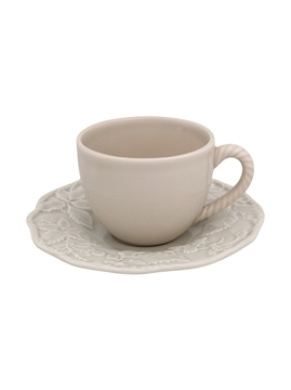 Picture of Tea Cup and Saucer Sandy Grey