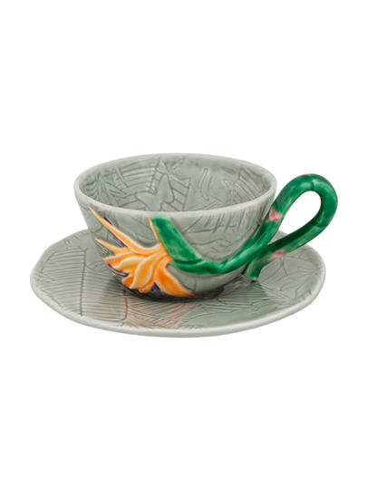 Picture of Tropical - Tea Cup and Saucer Bird of Paradise