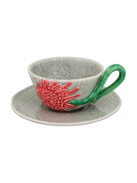 Picture of Tropical - Tea Cup and Saucer Torch Ginger