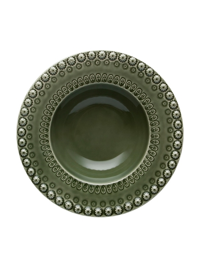 Picture of Fantasy - Soup Plate Green Olive Tree