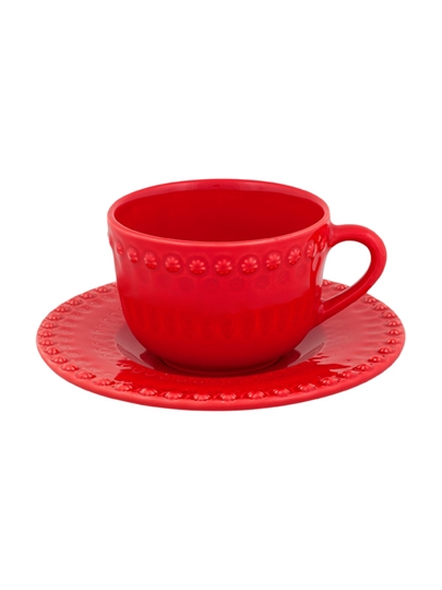 Picture of Fantasy - Tea Cup and Saucer Red