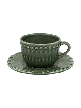 Picture of Fantasy -Tea Cup and Saucer Green Olive Tree