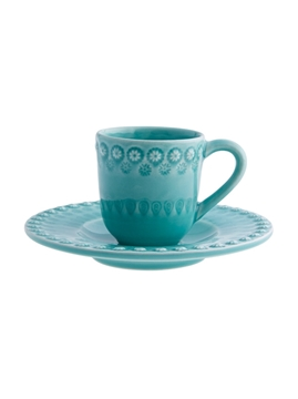 Picture of Fantasy - Coffee Cup and Saucer Acqua Green