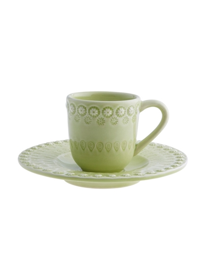 Picture of Fantasy - Coffee Cup and Saucer Bright Green