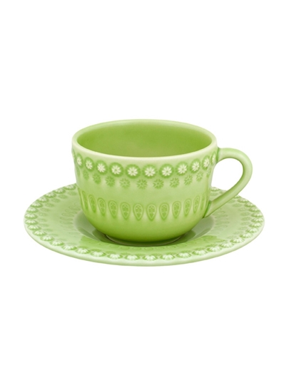 Picture of Fantasy - Tea Cup and Saucer Bright Green