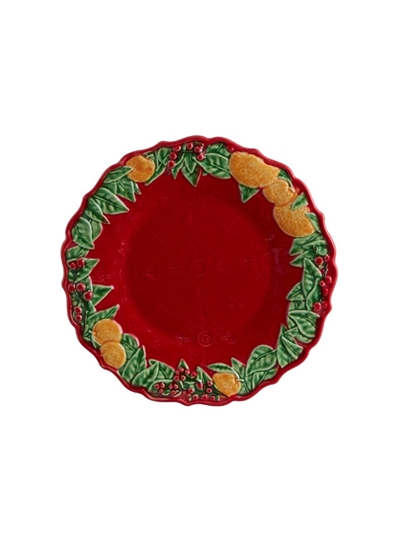 Picture of Christmas Garland -  Dessert Plate 22
