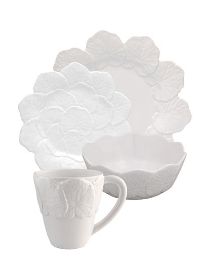 Picture of Geranium - 16 Pieces set White