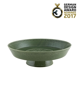 Picture of Rua Nova - Footed Fruit Bowl 35 Green