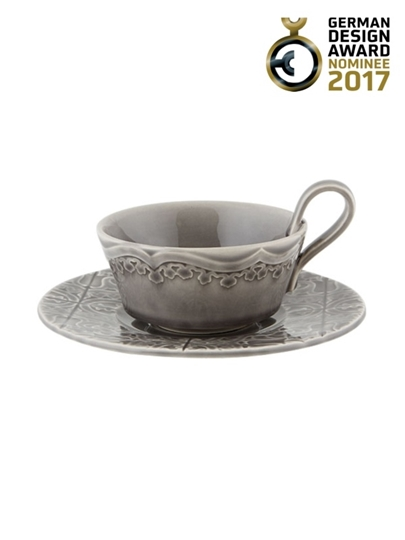 Picture of Rua Nova - Tea Cup and Saucer Anthracite