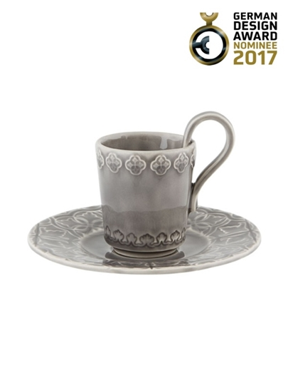 Picture of Rua Nova - Coffee Cup and Saucer Anthracite