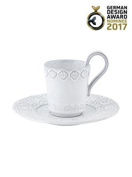 Picture of Rua Nova - Coffee Cup and Saucer White Antique