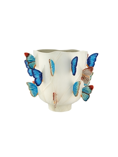 Picture of Cloudy Butterflies - Vase 40