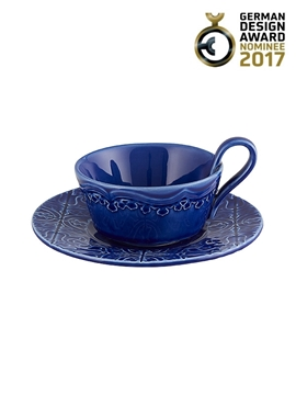 Picture of Rua Nova - Tea Cup & Saucer Indigo Blue
