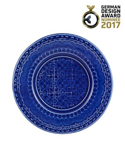 Picture of Rua Nova - Fruit Plate 22 Indigo Blue