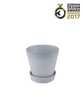 Picture of Rua Nova - Vase 16 with plate White Antique